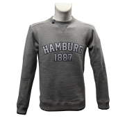 Sweater G '1887 Crew', grey meliert