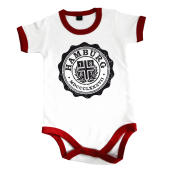Baby Body '1887 College', weiß-rot