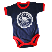 Baby Body '1887 College', navy/rot