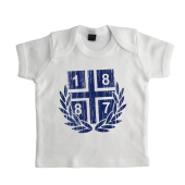 Baby-T-Shirt '1887 Vintage`, weiss