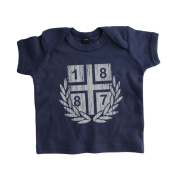 Baby-T-Shirt '1887 Vintage`, navy