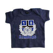 Baby-T-Shirt '1887 Teddy`, navy