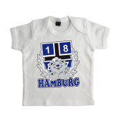 Baby-T-Shirt '1887 Teddy`, weiss