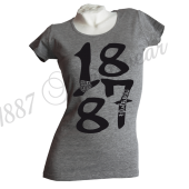 G-Shirt G 'BIG 1887_BK', gray