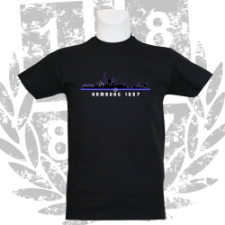 Kinder-T-Shirt B '1887 Skyline', schwarz