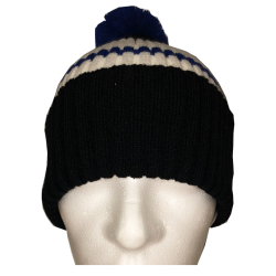 Bommelbeanie 'Colours Black'
