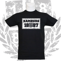 T-Shirt B '1887 Rectangle', schwarz