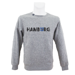 Sweater G '1887 Cracks', grau
