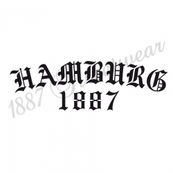 T-Shirt W 'Old Hamburg 1887', weiß