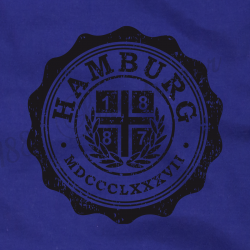 Turnbeutel rb '1887 College', royalblau