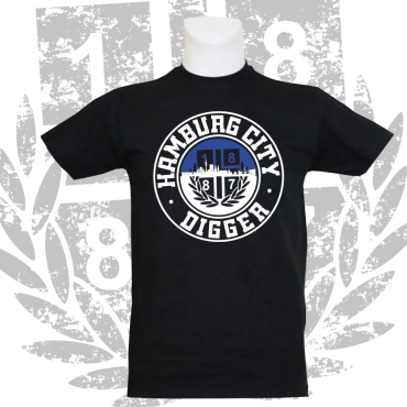Kinder-T-Shirt B 'City Digger', schwarz