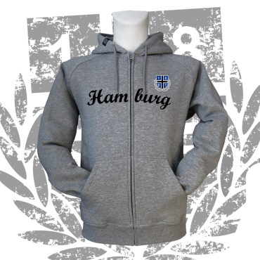 Zipper G '1887 New Hamburg', grau meliert