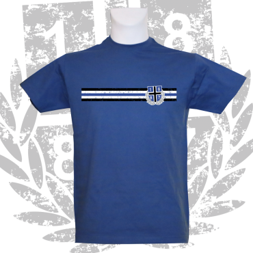 T-Shirt RB '1887 Border',royalblau