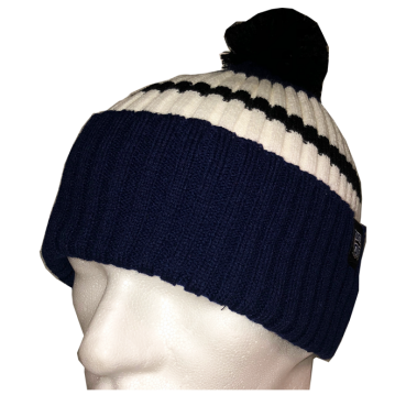 Bommelbeanie 'Colours Blue'