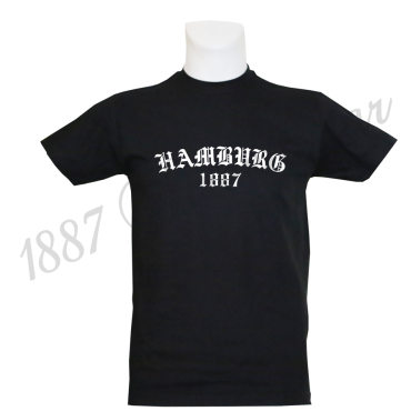 T- Shirt B 'Old Hamburg 1887', schwarz