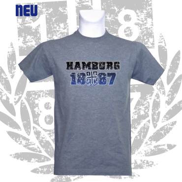 T-Shirt G 'Big Hamburg 1887.', grau