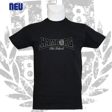 T-Shirt B 'Hamburg Old School', schwarz