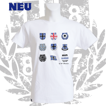 T-Shirt W '1887 Collection', weiss