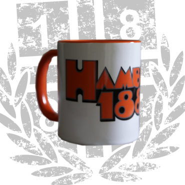 Kaffeebecher Tasse wo 'Hamburg 1887 CO'