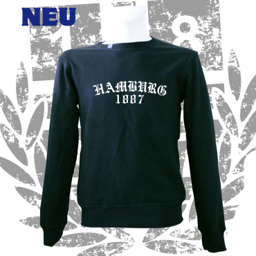 Sweater B 'Old HH 1887', schwarz