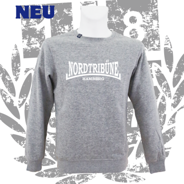 Sweater G 'Nordtribüne HH'_wh, grau