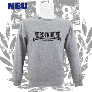 Sweater G 'Nordtribüne HH'_BK, grau
