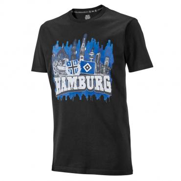1887  Streetwear Hamburg T-Shirt Anker Grau Meliert