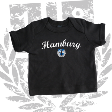 Baby-Shirt '1887 New HH', schwarz