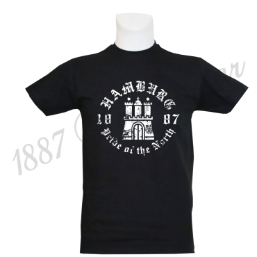 T-Shirt B 'Pride of the North', schwarz