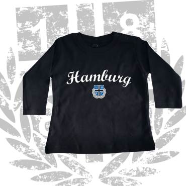 Baby-Long-Shirt '1887 New Hamburg', schwarz