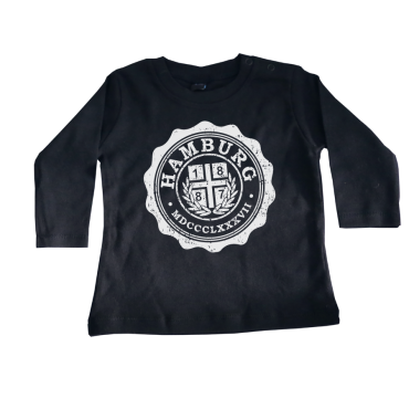 Baby-Long-T-Shirt '1887 College', schwarz