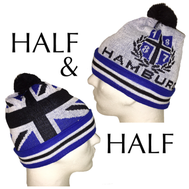 Bobble Hat 1887 half and half