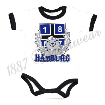 Baby Body 1887 Teddy, weiß-navy
