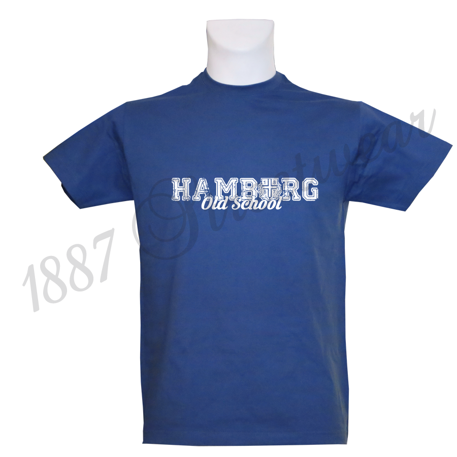 t shirt rb 39 old school wh 39 royalblau. Black Bedroom Furniture Sets. Home Design Ideas
